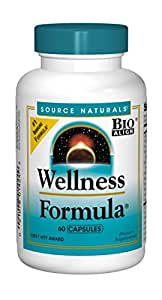 Source Naturals Wellness Formula Bio-Aligned Supplement - Herbal Defense Complex, Immune System Support & Immunity Booster - 60 Capsules