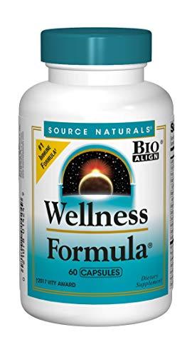 Source Naturals Wellness Formula Bio-Aligned Vitamins & Herbal Defense - Immune System Support Supplement & Immunity Booster - 60 Capsules