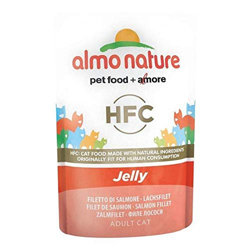 4X Almo Nature Cat Pouch Classic in Jelly Salmon 24 x 55g
