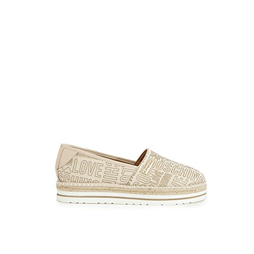 Scarpe Moschino Love 2 Natural On Espadrille Natural Slip Donna raqAq47U6