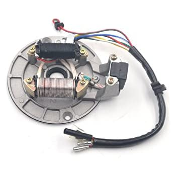 chanoc 2 coil ignition magneto stator plate for 50cc 70cc 90cc 110cc 125cc  taotao kazuma ssr baja atv quad dirt bike 4 wheeler
