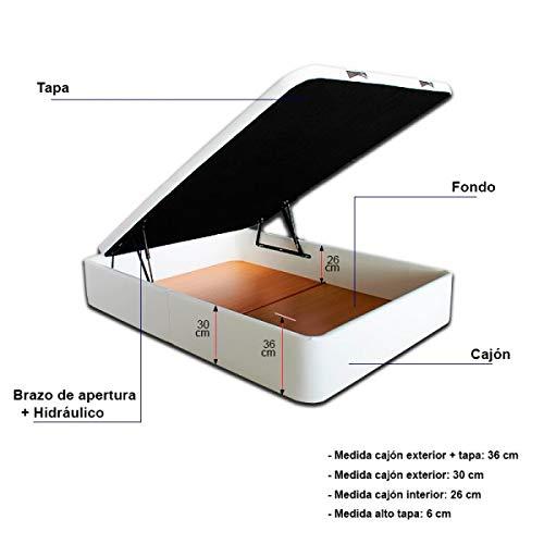 Ventadecolchones - Canapé Modelo Serena Gran Capacidad tapizado en Polipiel Blanco Medidas 200 x 200 cm (2 und 100 x 200): Amazon.es: Juguetes y juegos
