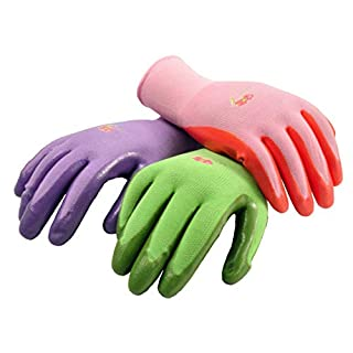 6 Pairs Women Gardening Gloves with Micro-Foam Coating - Garden Gloves Texture Grip - Working Gloves For Weeding, Digging, Raking and Pruning, Medium, Assorted color