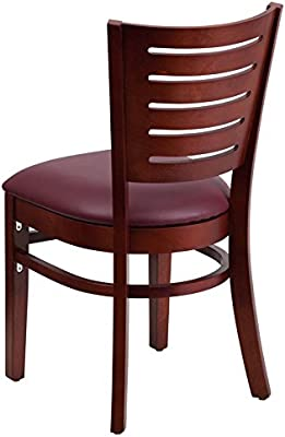 Amazon.com: dyersburg Madera silla Slat Back Caoba, asiento ...