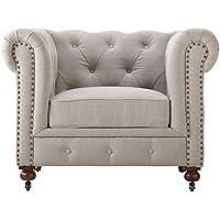 HomeDepot.com deals on Home Decorators Collection Gordon Natural Linen Arm Chair