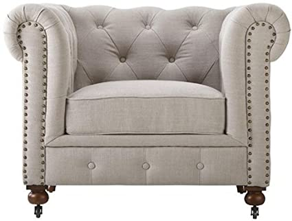Merveilleux Gordon Tufted Chair, 32u0026quot;Hx42.5u0026quot;Wx38.25u0026quot ...