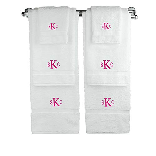 BC BARE COTTON Personalized Monogram Make Your Own Six Piece Towel Set Custom Wedding Engagement