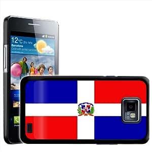 Fancy A Snuggle - Carcasa rígida para Samsung Galaxy S2 i9100, diseño de bandera de República Dominicana