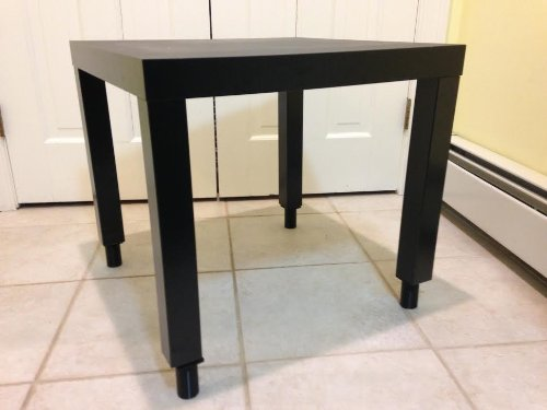 Ikea Lack Side Table With Extension Legs High Gloss White