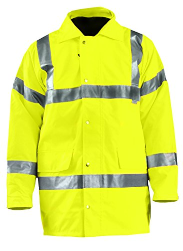 (OccuNomix LUX-TJFS-YL Premium Five-Way (5-in-1) Parka Jacket, Class 3, 100% ANSI Polyester, Yellow, Large )