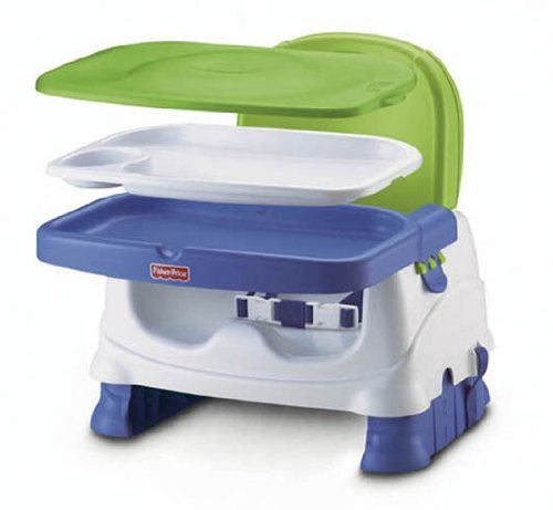 Fisher-Price Booster Seat, Blue/Green/Gray BMD97