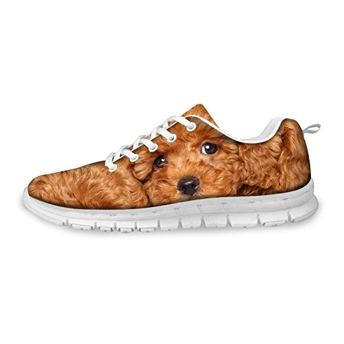 Cat Face Running Printed Fashion CHAQLIN Casual Sneakers Dog Womens 3D Shoe Flat qzIwxHtax