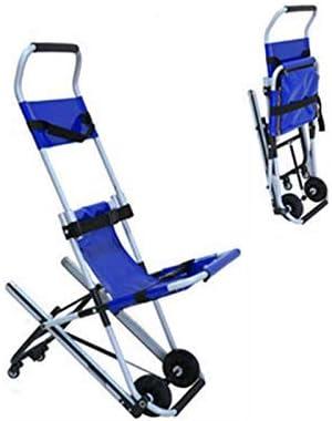 AA-SS Silla de Escalera JXSD Aluminio Peso Ligero Ambulancia Medical Lift, Silla de evacuación de Escalera Plegable, Paramédico Transporte de Pacientes Evacuación de 4 Ruedas: Amazon.es: Hogar