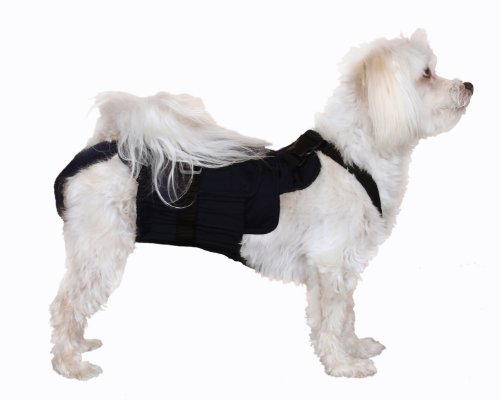 Dog Diaper Wrap SMALL BLACK]()