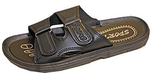 Sandali Ciabatte Sandalo Sport Pierre EU 42 Ciabatte Velcro Uomo cedric Infradito Chiusura Similpelle Nero 5HXw6Fq