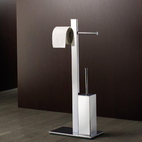 Gedy 7632-13 Square Chromed Brass Bathroom Butler