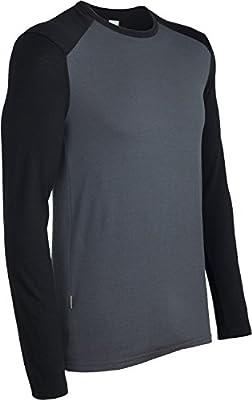 Icebreaker Merino Tech Heavyweight Base Layer Long Sleeve Crew Neck Shirt, Zealand Merino Wool
