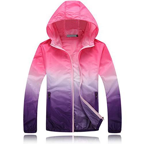 Plus Size Sun Protective Lovers Men Women Jacket Summer Ultrathin Breathable Windbreaker Coat Women's Casual Jackets Aw073 Pink