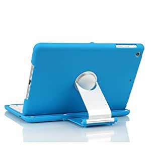 Luxmo Apple iPad Mini 3 Keyboard / iPad Mini Retina / iPad Mini Bluetooth Keyboard Case Cover Stand For 7.9 Inch New Mini iPad 2 With 360 Degree Rotating Feature And Multiple Viewing Angles (Blue)