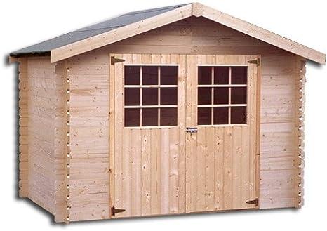 Abrigo de jardín madera flodova 28 mm – 5, 90 m²: Amazon.es: Jardín