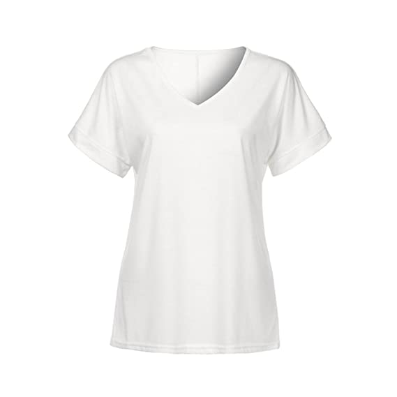 Amazon.com: T Shirts for Womens, FORUU Casual Solid V Neck Summer Comfort Blouses Tops Tees: Kitchen & Dining