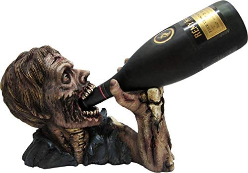 DWK Elixir of the Undead Zombie Wine and Beverage Bottle Holder Display Rack