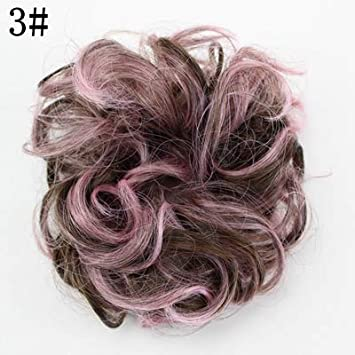 Amazon.com   Free Style Hair Curler Wig Puff Bud Elastic Hairbands Hair Ties Women  Hair Accessories 16 Colors  3   Beauty 3447d68a56c