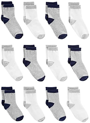 Simple Joys through Carter's Baby and Toddler Boys' 12-Pack Sock Crew