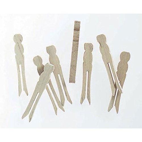 210 Mini Wood Flat Clothespin No Springs 2.5