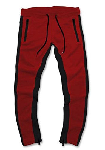 Jordan Craig Essential Fleece Track Pants (X-Large, Red)