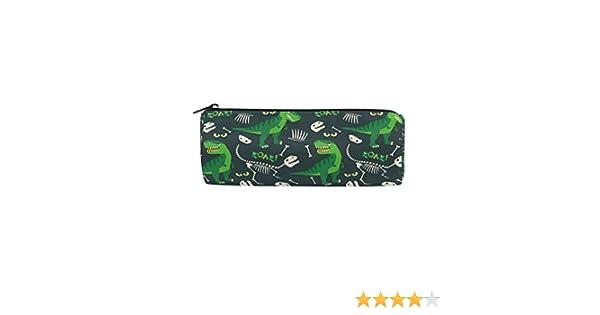 Estuche para lápices de dinosaurio verde, con cremallera, para niños y niñas, para la escuela de adultos: Amazon.es: Oficina y papelería