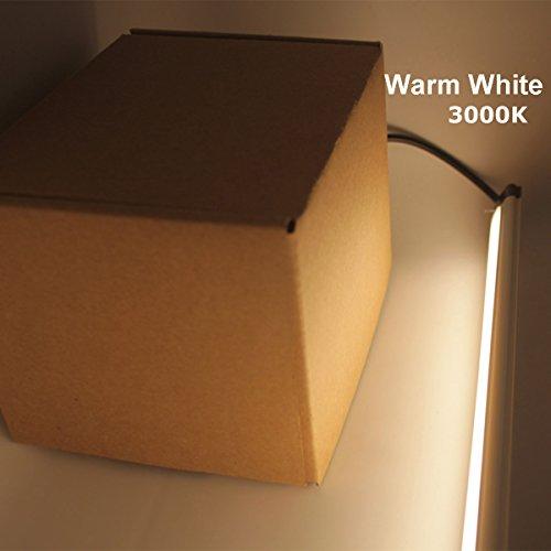 Under Cabinet LED Lighting Kit Plug in,6 pcs 12 Inches Cabinet Light Strips, 31W, 2000 Lumen, Super Bright, for Kitchen Cabinets Counter, Closet, Shelf Lights,Warm White 3000K-[6-Bars Kit-3000K] by Litever (Image #6)