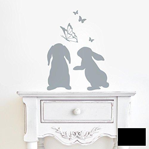 Wandtattoo Hasen Kaninchen Mit Schmetterlingen M1861 Ausgewahlte