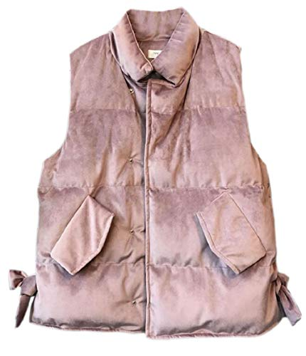 Vest Pink Collar Loose Women security Sleeveless Stand Solid Velvet Jackets wq7660f