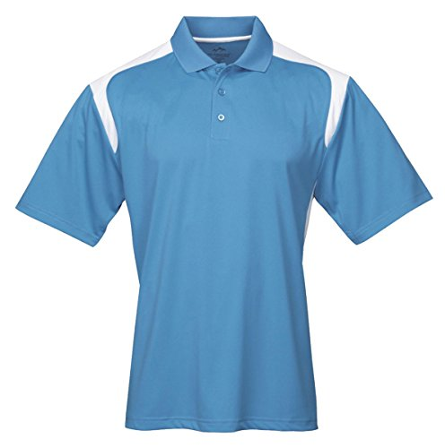 Tri Mountain Mens 100  Polyester Uc Knit Polo Shirt  145Tm   Columbia   White M