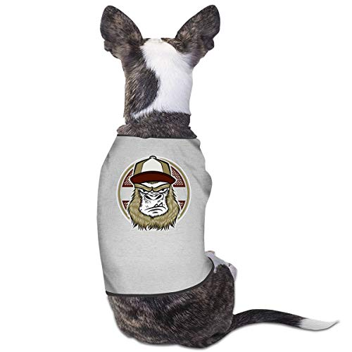 NT Huatou Cute Dog Shirts Skate Gorilla with Cap Pet Costume for Pet Dogs Cats Soft and Breathable Gray 29 ()