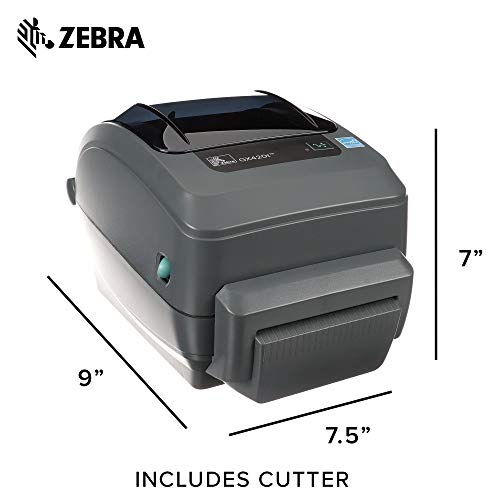 Zebra - GX420t Thermal Transfer Desktop Printer for Labels, Receipts, Barcodes, Tags, and Wrist Bands - Print Width of 4 in - USB, Serial, and Parallel Port Connectivity by Zebra (Image #5)