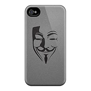 Fashion Protective Anonymous Case Cover For Iphone 4/4s