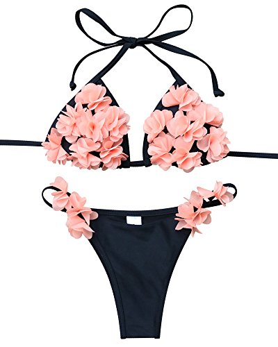 MOOSKINI Fashion Womens Halter Flowers