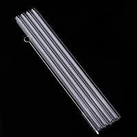 SJCWQBYDF 4Pcs Straight Glass Tube Reusable Drinking Straw Sucker With Cleaning BrushEvents Party Favors Supplies