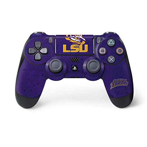 Skinit LSU Tigers PS4 Controller Skin - Officially Licensed LSU Playstation 4 Wrap - Thin, Durable 3M Vinyl ()