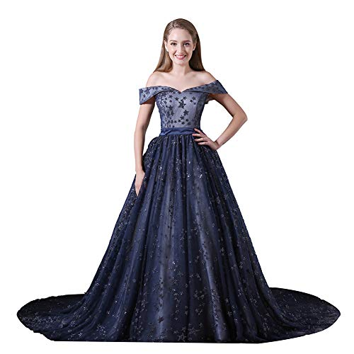 YUEZHIMENG Haute Couture Women's Wedding Lace Strapless Elegant Temperament Princess Wedding Dress Adult/Children Dress Evening Dress,US16