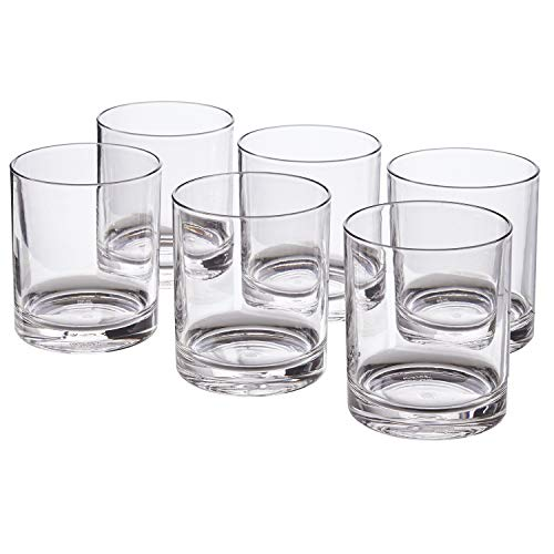 Classic 12-ounce Premium Quality Plastic Tumblers | set of 6 Clear (Glasses Large Cocktail Plastic)