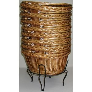 Willow Baskets with Metal Stand Set of 8