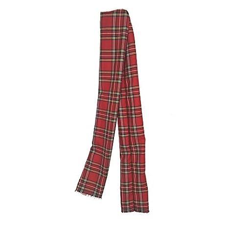 Red tartan sash Burns night sash red plaid stole Royal Stewart Tartan scarf