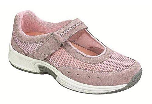 Orthofeet Bristol Womens Comfort Orthopedic Orthotic Diabetic Mary Jane Shoes Pink Leather 6.5 M Us by Orthofeet