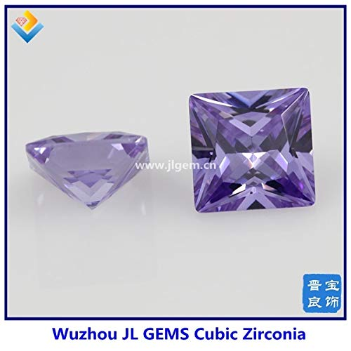 Item Diameter: Square CZ 9X9MM #9 Light Purple AAAAA Grade Cubic Zirconia Stone//CZ Square Shape Loose Stone// 2x2mm-15x15mm SQ CZ Stone - Wow Calvas 100pcs//lot