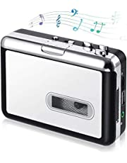 OfficeLead Cassette Player, Classical Portable Tape Player, Compatible with Laptops and Personal Computers, Vintage Auto Reverse Portable Audio Tape