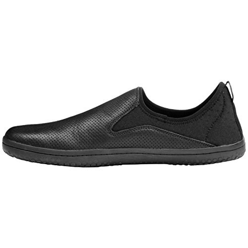 Venta Mejor Falsificación De Descuento Vivobarefoot Mens Slyde Leather Shoes Black rQOevdQ