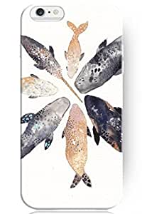 Customized LO.O Case Accessories New Vintage Design Personalized Hard Plastic Snap on Slim Fit Ocean Animal Drawing Sea Life For iPhone 5 5s
